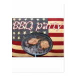 An American BBQ party Post Cards