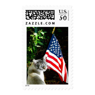 """""""An American Cat"""" Postage Stamp"""
