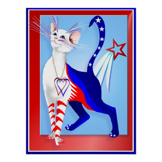An American Cat Poster