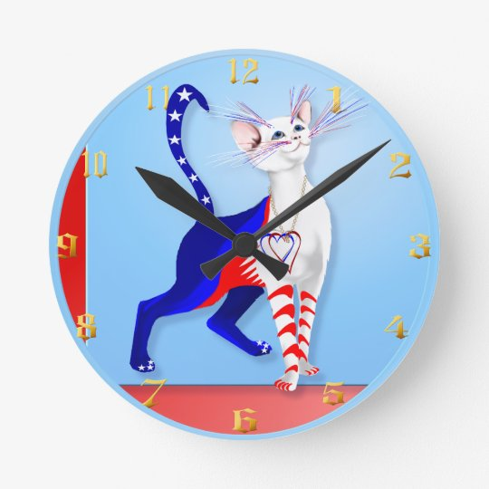 An American Cat Wallclock