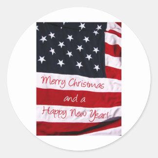 An American Christmas greeting Sticker