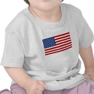 """""""An American Christmas"""" US Flag X-mas Tree Stars Tee Shirt"""
