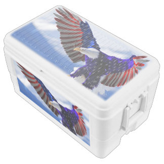 An American Eagle Chest Cooler