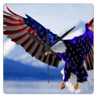 An American Eagle Square Wallclock