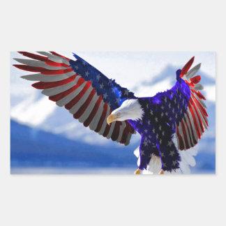 An American Eagle Rectangular Sticker