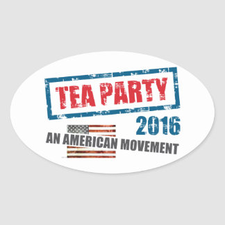 An American Movement Oval Sticker
