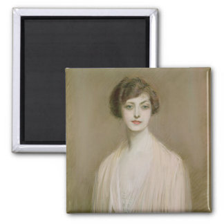 An American (pastel on canvas) 2 Inch Square Magnet