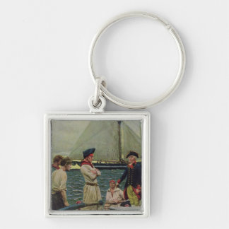 An American Privateer Taking a British Prize Keychain