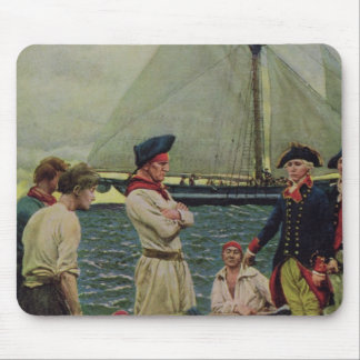 An American Privateer Taking a British Prize Mouse Pad