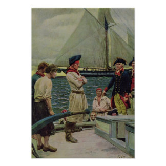 An American Privateer Taking a British Prize Poster
