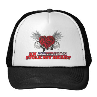 An American Stole my Heart Mesh Hat