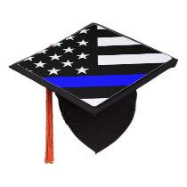 An American Thin Blue Line Display Graduation Cap Topper