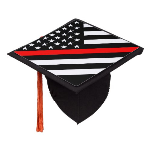 An American Thin Red Line Display Graduation Cap Topper