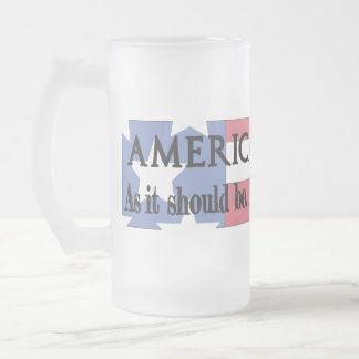 """An American Toast"" 16 oz. Frosted Mug"