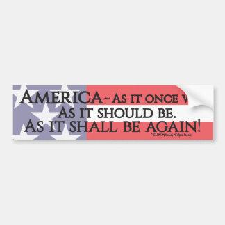 """An American Toast"" bumper sticker. Bumper Sticker"