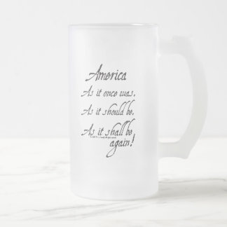 """An American Toast"" Frosted Mug"