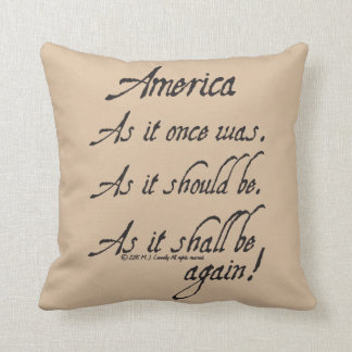 """An American Toast"" Throw Pillow"