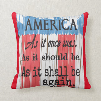 """An American Toast"" Throw Pillow"" Throw Pillow"