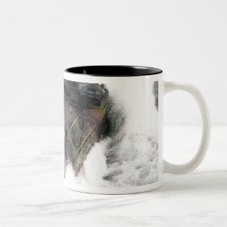 An amphibious assault vehicle 2 Two-Tone coffee mug