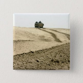 An amphibious assault vehicle pinback button