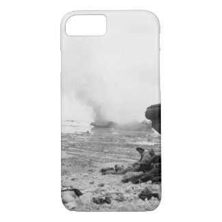 An amphibious tractor burns on_War Image iPhone 8/7 Case