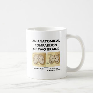 An Anatomical Comparison Of Two Brains Alzheimers Coffee Mugs