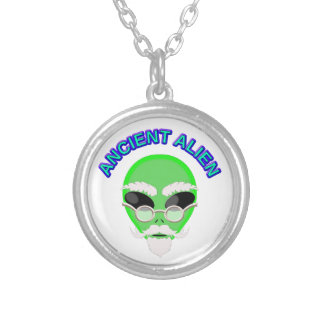 An Ancient Alien Silver Plated Necklace