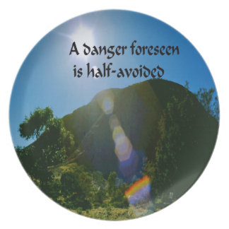 An ancient Ameridan Indian Proverb Plate