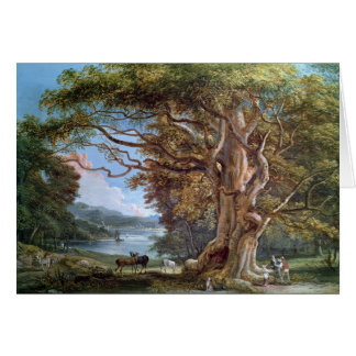 An Ancient Beech Tree, 1794 (oil on canvas) Greeting Card