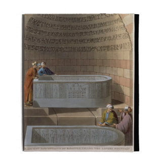 An Ancient Sarcophagus of Basaltes, called the Lov iPad Folio Case