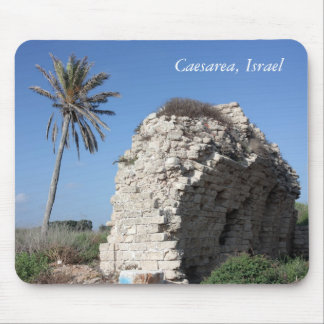 An ancient wall with a Palm tree, Caesarea, Israel Mouse Pad