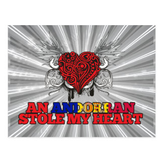 An Andorran Stole my Heart Postcard