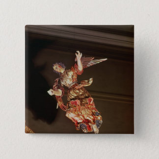 An angel above the altarpiece pinback button
