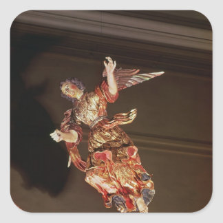 An angel above the altarpiece square sticker