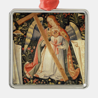 An angel carrying the cross christmas tree ornaments