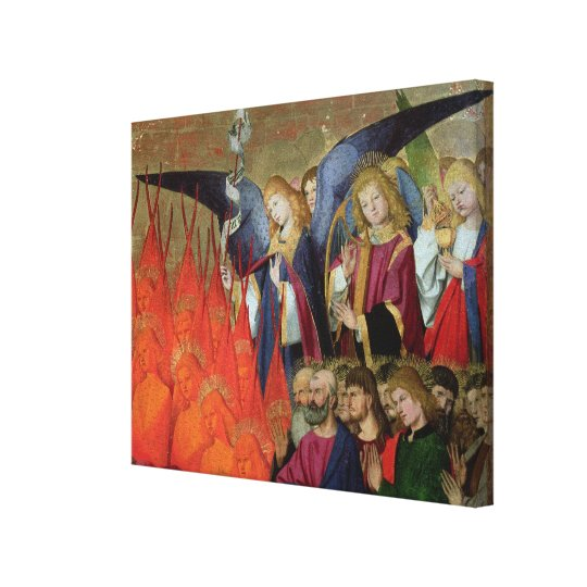 An Angel, from the 'Coronation of the Virgin' Canvas Print