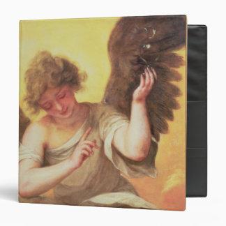 An Angel holding a Glass Flask Binder