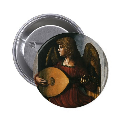 An Angel in Red with a Lute by Leonardo da Vinci Pins