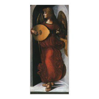 An Angel in Red with a Lute by Leonardo da Vinci Card