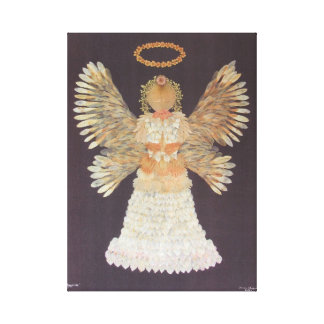 An angel, made entirely of flowers canvas print