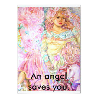 An angel of the tulip., An angel saves you. Card