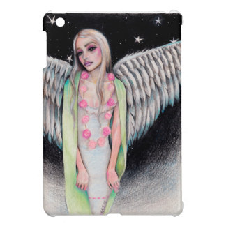 An Angel Original Art Illustration Kim Turner Art iPad Mini Covers