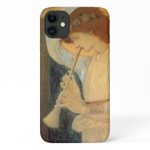 An Angel Playing a Flageolet By Burne Jones iPhone 11 Case