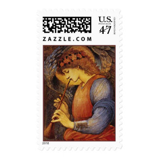 An Angel Playing a Flute - Stamp