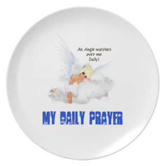 An Angel Watches Over Me Daily Melamine Plate