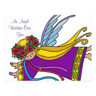 An Angel Watches Over You Postcard