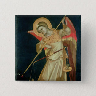 An Angel Weighing a Soul, c.1348-55 Button