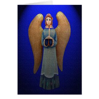An Angel's Candlelight Christmas Card