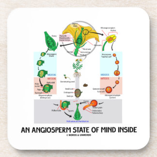 An Angiosperm State Of Mind Inside (Flower) Coaster