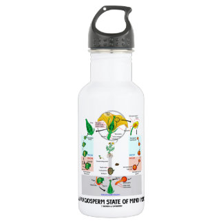 An Angiosperm State Of Mind Inside (Flower) Water Bottle